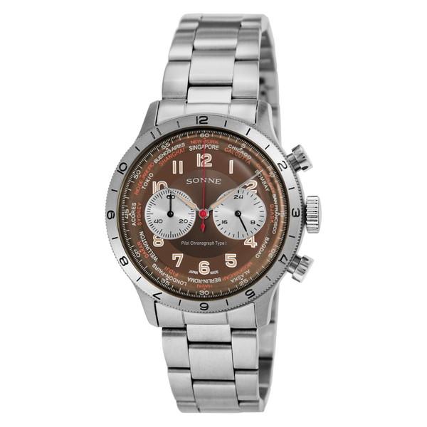 SONNE HI003BR ヒストリカルコレクション [腕時計(メンズ)パイロットクロノグラフタイプI]