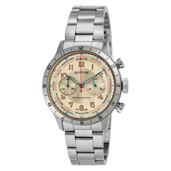 SONNE HI003IV ヒストリカルコレクション [腕時計(メンズ)パイロットクロノグラフタイプI]