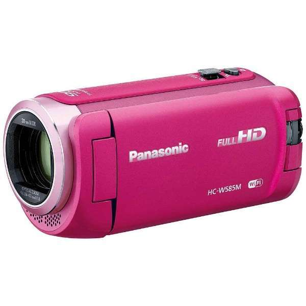 【送料無料】PANASONIC HC-W585M-P ピンク [デジタルハイビジョンビデオカメラ(SD対応・64GBメモリー内蔵)]