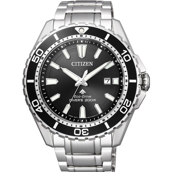 CITIZEN(シチズン) BN0190-82E ブラック×シルバー プロマスター MARINE-エコ・ドライブ 200mダイバー [ソーラー腕時計 (メンズウオッチ)]