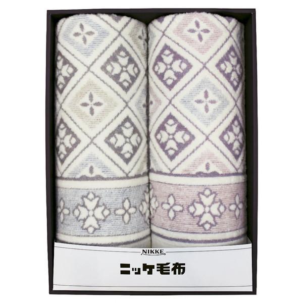 【送料無料】VT-V510025 ニッケ 綿混ウール毛布(毛羽部分)2P