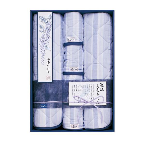 【送料無料】TK87250 近江高島ちぢみ さらさら敷パット2P&枕パット4P