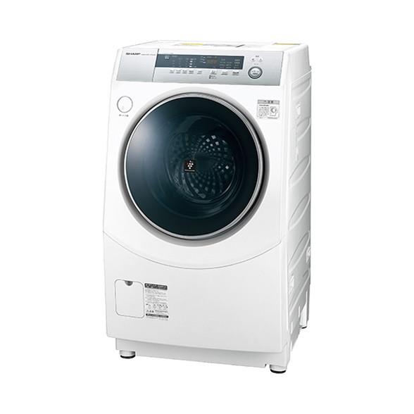 【送料無料】【標準設置無料】ドラム式洗濯乾燥機 シャープ(SHARP) プラズマクラスター ES-H10B-WR ホワイト系 右開き ななめ型 洗濯10kg 乾燥6kg 省エネ 節水 消臭 静か 低騒音 夜間や早朝でも安心 こすり洗い マイクロ高圧洗浄 ガンコな汚れ黄ばみに極め洗いコース