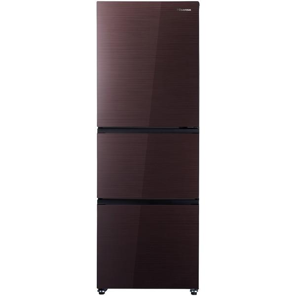 【送料無料】Hisense HR-G2801BR ダークブラウン [冷蔵庫(282L・右開き)] メーカー1年保証 ハイセンス 3ドア 真ん中野菜室 中段 ガラス扉 大容量 冷凍冷蔵庫 静音 省エネ設計 新生活