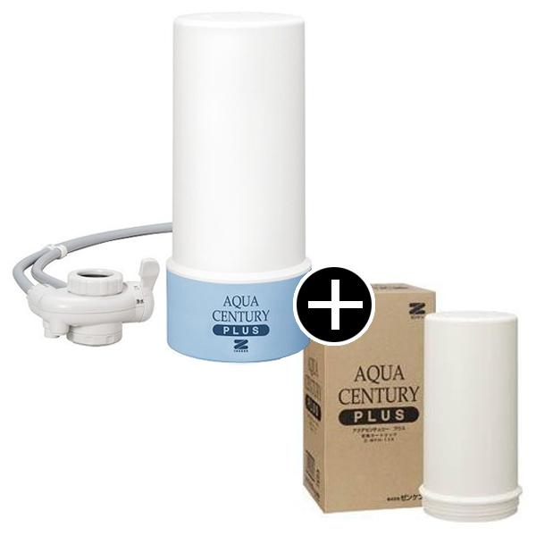 【送料無料】ゼンケン MFH-11K アクアセンチュリープラス 交換カートリッジセット [据え置き型浄水器] カートリッジ式 日本製 美味しい 水 据え置きタイプ コンパクト カラフル インテリア 浄水器