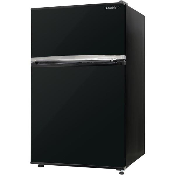 【送料無料】S-cubism Electric WR-2090BK ブラック [直冷式冷蔵庫(90L・左右フリー※付け替え式)]