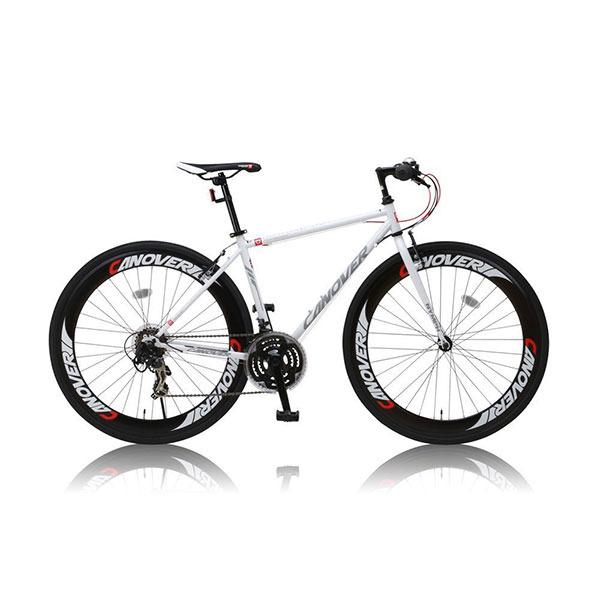 【送料無料】CANOVER CAC-025 NYMPH ホワイト [クロスバイク (700x28C・21段変速・フレーム450mm)]【同梱配送不可】【代引き・後払い決済不可】【沖縄・北海道・離島配送不可】自転車 スポーツバイク シマノ ギア 初心者