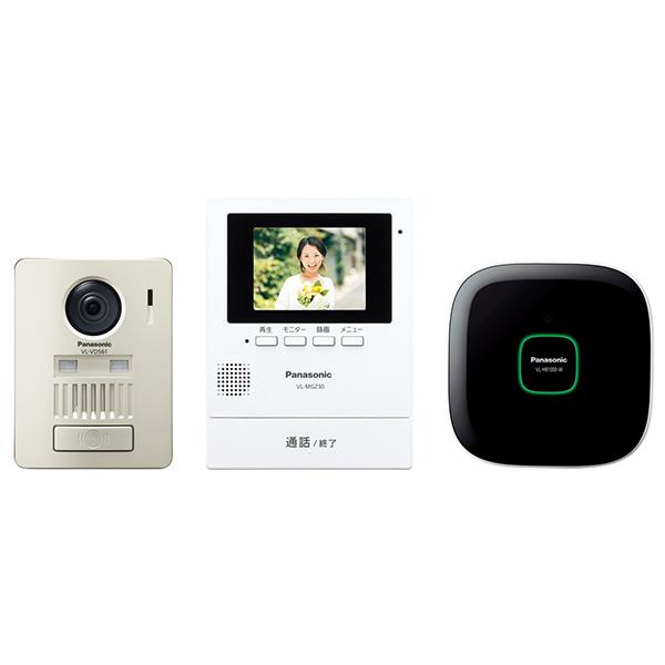 【送料無料】PANASONIC(パナソニック) VL-SGZ30K [ワイヤレステレビドアホン] ホームネットワークシステム無線 配線工事不要 静止画録画機能搭載 3.5型モニター壁掛式 取付工事不要 ワイドカラー液晶 インターホン レンズ左右画角約100度 取付簡単