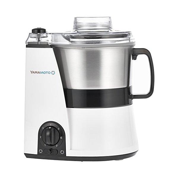 YE-MM41-W ホワイト [山本電気 マルチスピードミキサー MasterCut (マスターカット) フードプロセッサー] 連続運転可能 無段階スピード調節 フープロ パン生地 コーヒー豆 冷凍 スープ 離乳食 氷 スムージー みじん切り 山芋 ミンチ ハンバーグ 日本製 YEMM41W