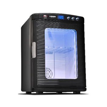 ベルソス(VERSOS) VS-404BK ポータブル冷温庫(25L) ブラック HOT&COOL 1ドア 大容量 車載 渋滞 ドライブ アウトドア 小型 AC/DC電源 ぺルチェ式 小型冷蔵庫 保冷 保温 VS404BK