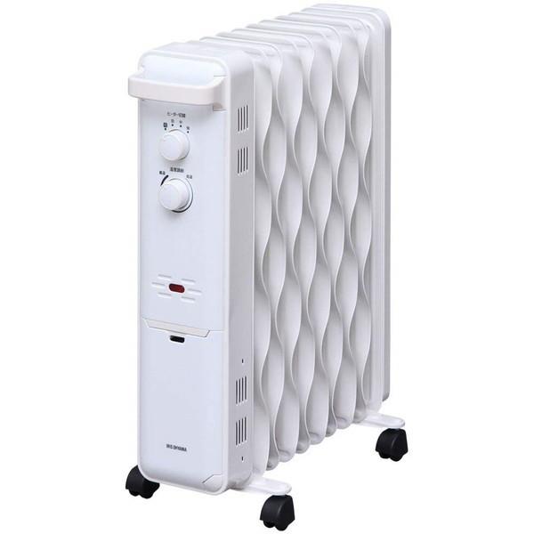 【送料無料】アイリスオーヤマ IWH-1210K-W ホワイト [オイルヒーター(木造5畳/コンクリ8畳)]