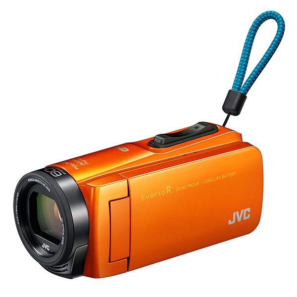【送料無料】JVC (ビクター/VICTOR) ビデオカメラ 64GB 大容量バッテリー GZ-RX670-D サンライズオレンジ 約4.5時間連続使用可能 旅行 成人式 卒園 入園 卒業式 入学式に必要なもの 結婚式 出産 アウトドア 学芸会 小型 小さい
