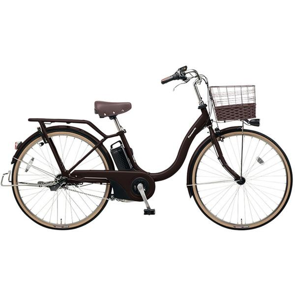 【送料無料】PANASONIC BE-ELSL63-T マットダークブラウン ティモ・L [電動アシスト自転車(26インチ・内装3段変速)] 【同梱配送不可】【代引き・後払い決済不可】【本州以外の配送不可】