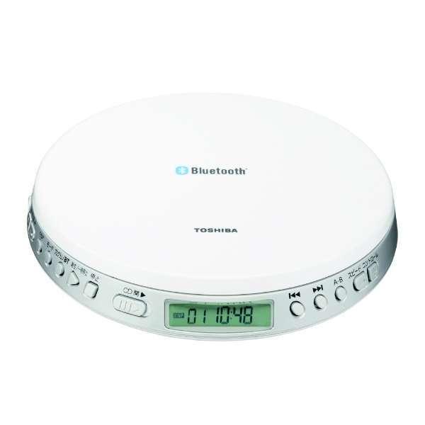 ワイヤレスに対応したBluetooth送信機能付き! 東芝 TY-P3-W ホワイト [ ポータブルCDプレーヤー (Bluetooth送信機能付き) ]
