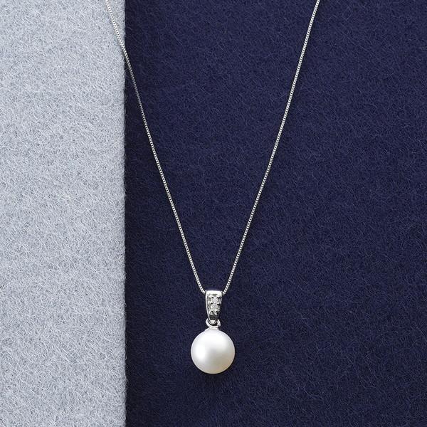 ルーシールーシー 本真珠&ダイヤモンドペンダント S8078