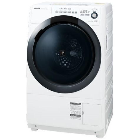 【送料無料】SHARP ES-S7D-WR ホワイト系 [ドラム式洗濯乾燥機 (洗濯7.0kg/乾燥3.5kg) 右開き] 【代引き・後払い決済不可】【離島配送不可】