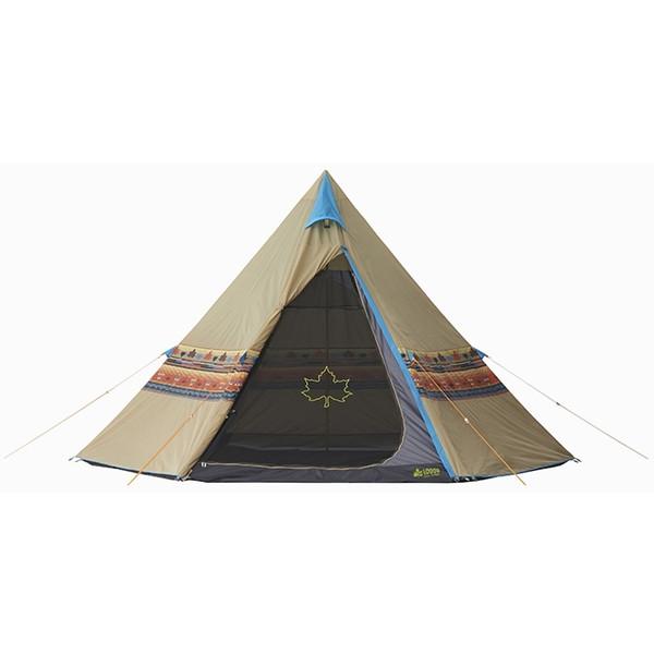 テント 4人用 ファミリー ロゴス(LOGOS) ナバホ Tepee 400 No.71806500 ティピーテント ワンポール 簡単設営 防水 収納バッグ付き キャンプ アウトドア フェス