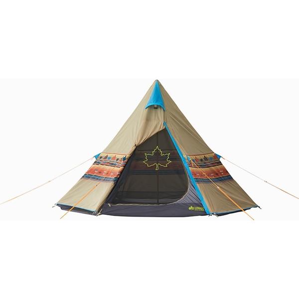 【送料無料】テント 3人用 ファミリー ロゴス(LOGOS) ナバホ Tepee 300 No.71806501 ティピーテント ワンポール 簡単設営 防水 収納バッグ付き キャンプ アウトドア フェス