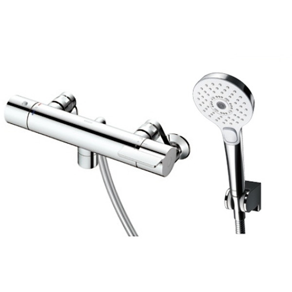 TOTO TBV03412Z GGシリーズ(浴室用水栓金具) [サーモスタット混合水栓 (コンフォートウエーブ3モードめっき・スパウト0mm・寒冷地用)]