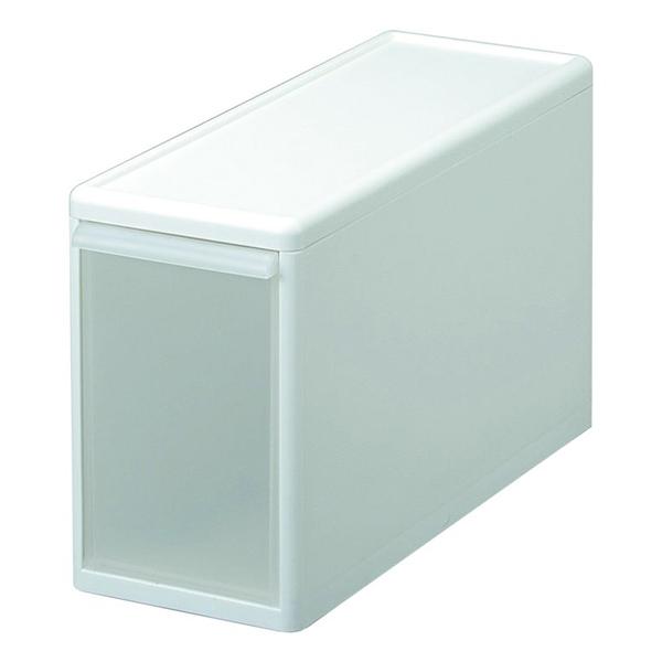 組み合わせ自由自在の引出し収納ユニット(幅3タイプ)幅に関係なく自由に組み合わせができます。幅が同じなら、しっかりジョイントも可能です。 吉川国工業所 MOS-04 組み合わせて使える収納ケース スリムL ホワイト (幅17×奥行46.5×高さ28cm) ユニット収納 押入れ収納 衣類収納 収納ボックス