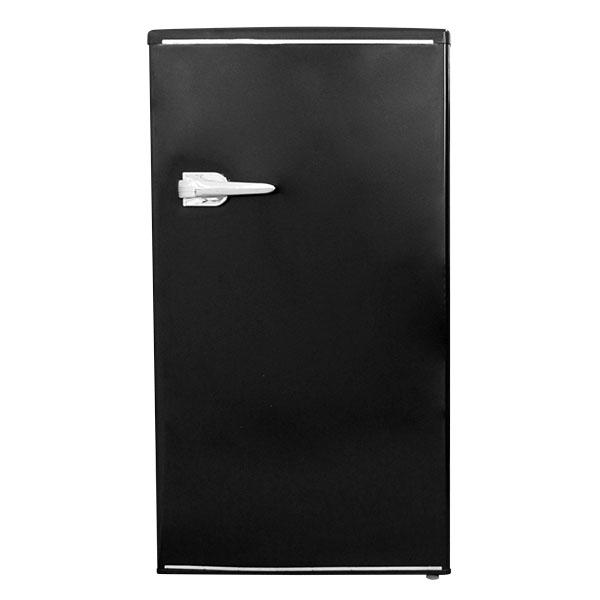 【送料無料】冷蔵庫 一人暮らし 小型 黒 85L 右開き コンパクト 1ドア ブラック レトロ調 新生活 RT-185B TOHOTAIYO
