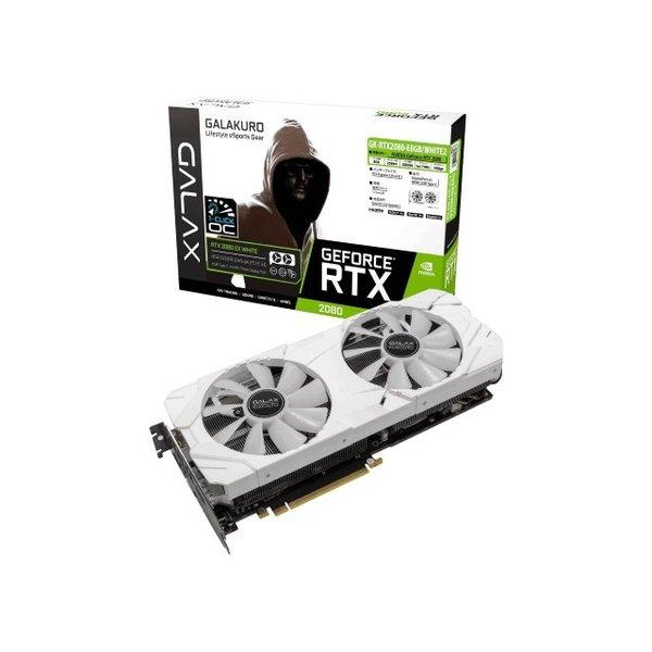 【送料無料】玄人志向 GK-RTX2080-E8GB/WHITE2 NVIDIA GeForce RTX 2080 搭載 [PCI Express対応ビデオカード (8GB)]
