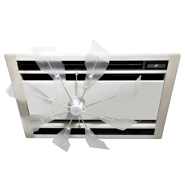 【送料無料】潮 ハイブリッドファン HBF-SJR C/W ハーフクリアー 風よけ 直撃風 拡散 空調効果向上 省エネ エコ空間 CO2削減 風除け