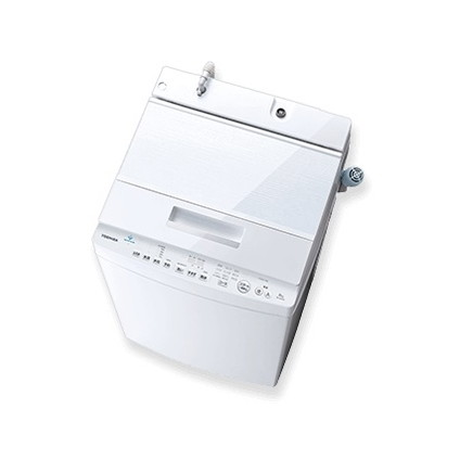 ウルトラファイルバブル洗浄搭載、省スペースタイプ。 東芝 AW-7D8 グランホワイト ZABOON [簡易乾燥機能付洗濯機(7.0kg)]