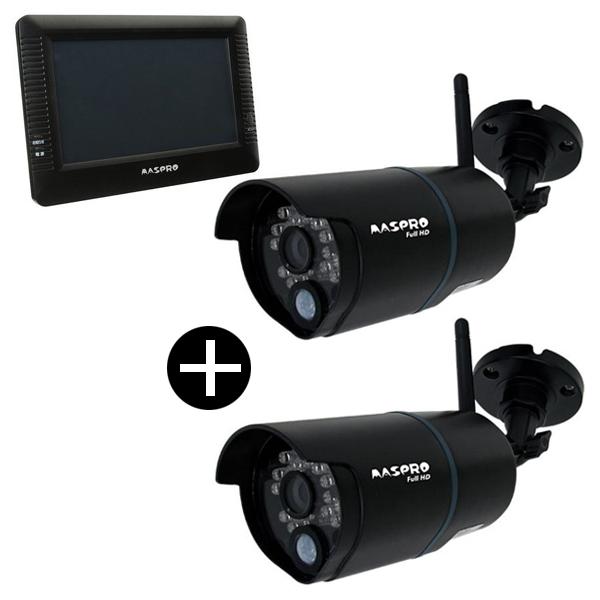 【送料無料】MASPRO WHC7M2 + 対応カメラ2台セット [モニター&ワイヤレス フルHDカメラセット]