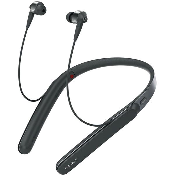 【送料無料】 SONY (ソニー) WI-1000X B WI-1000X(B) WI-1000X-B ブラック 黒 [ハイブリッド密閉カナル型イヤホン(Bluetooth対応・ハイレゾ音源対応)] ネックバンドスタイル ノイズキャンセリング ハンズフリー スマホ対応 誕生日 贈り物