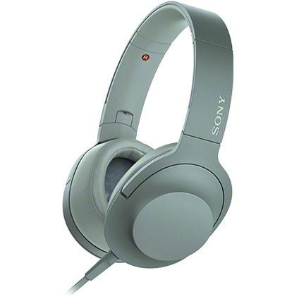 SONY (ソニー) MDR-H600A G ホライズングリーン 緑 h.ear on 2 [ダイナミック密閉型ヘッドホン(マイク&コントローラー搭載・ハイレゾ対応)] ハンズフリー スマホ対応 折り畳み 贈り物 誕生日