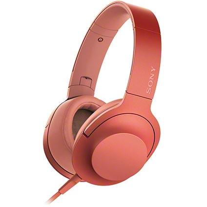 SONY (ソニー) MDR-H600A R トワイライトレッド赤 h.ear on 2 [ダイナミック密閉型ヘッドホン(マイク&コントローラー搭載・ハイレゾ対応)] ハンズフリー スマホ対応 折り畳み 贈り物 誕生日