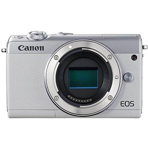 【送料無料】CANON EOS M100 W BODY ホワイト [ミラーレス一眼カメラ (2420万画素)]