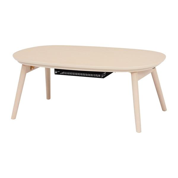 【送料無料】萩原 カルミナ950WS カジュアルこたつ コタツ こたつ おしゃれ テーブル 折脚 コンパクト ホワイト 白