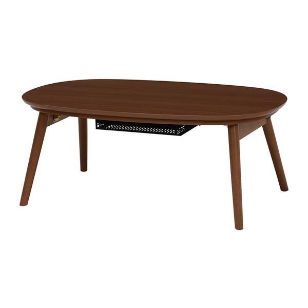 テーブル コタツ こたつ カジュアルこたつ 茶色 ブラウン 折れ脚 一人暮らし コンパクト ウォールナット シンプル 萩原 カルミナ950WN