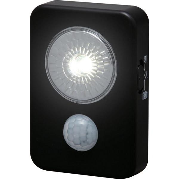 アイリスオーヤマ ISL3HN-B ブラック [乾電池式LED屋内センサーライト ハンディ]