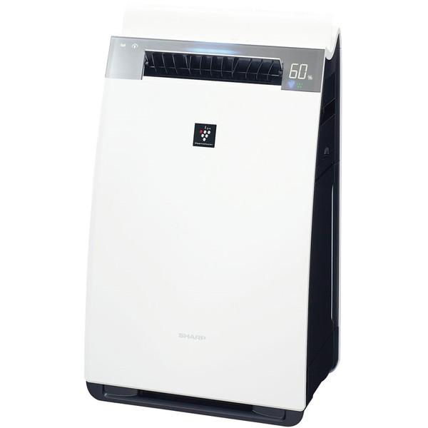 シャープ 加湿空気清浄機 KI-HX75-W ホワイト系 (空気清浄34畳 加湿21畳) 加湿/除電/高濃度プラズマクラスター25000/COCORO AIR/花粉/脱臭/ウイルス/ホコリ/パワフルショット/PM2.5対応/フィルター自動掃除機能/パワーユニット/AIoT/肌にうるおい/ペット/こども