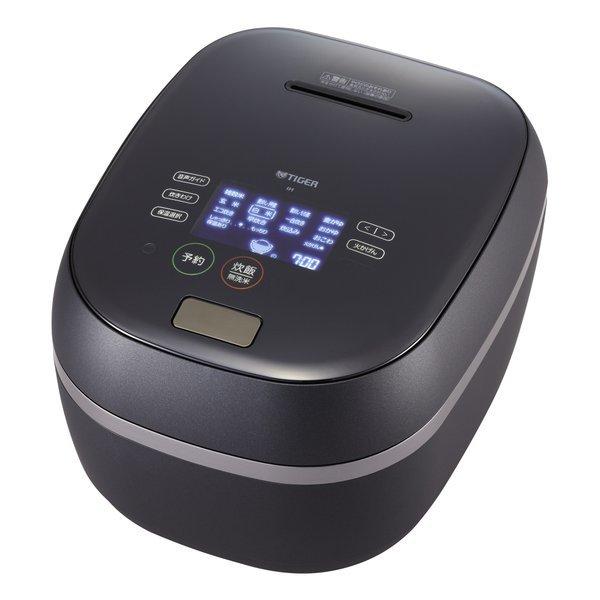 TIGER JPG-S100-KS シルキーブラック 土鍋ご泡火ほうび炊き [土鍋圧力IH炊飯ジャー (5.5合炊き)]