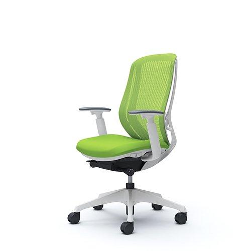 オフィスチェア デスクチェア オカムラ シルフィー 可動肘 背メッシュ ハイ C685XWFMP5 ライムグリーン ワークチェア パソコンチェア 事務椅子 イス おしゃれ 在宅ワーク テレワーク 在宅勤務 リモートワーク