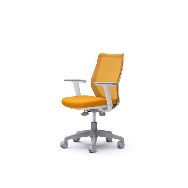 オフィスチェア デスクチェア オカムラ CG-M 可動肘 背メッシュ ハンガー無 CG91WRFZK8 オレンジ ワークチェア パソコンチェア 事務椅子 イス おしゃれ 在宅ワーク テレワーク 在宅勤務 リモートワーク