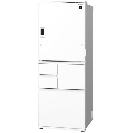 【送料無料】5ドア冷蔵庫 シャープ(SHARP) プラズマクラスター SJ-WX55D-W ピュアホワイト WXシリーズ 551L 左右フリー 大容量冷凍室でたっぷりスッキリ収納メガフリーザー 閉め忘れ防止オートクローズ 電動どっちもドア 簡単操作液晶ディスプレイ