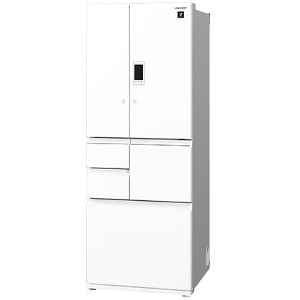 【送料無料】【標準設置無料】6ドア冷蔵庫 シャープ(SHARP) プラズマクラスター SJ-GX55D-W ピュアホワイト GXシリーズ 551L 観音開きタイプ 電動フレンチドア 電動アシスト機能 大容量冷凍室でたっぷりスッキリ収納メガフリーザー