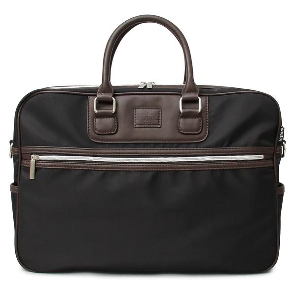 583-BK-F ビジネスバッグ ブリーフケース メンズバッグ オフィスカジュアル ビジカジ A4 機能性 肩掛け 斜めがけ カバン 鞄 かばん ダブルジップ シンプル PVCナイロン ポケット付き 収納 REGiSTA レジスタ