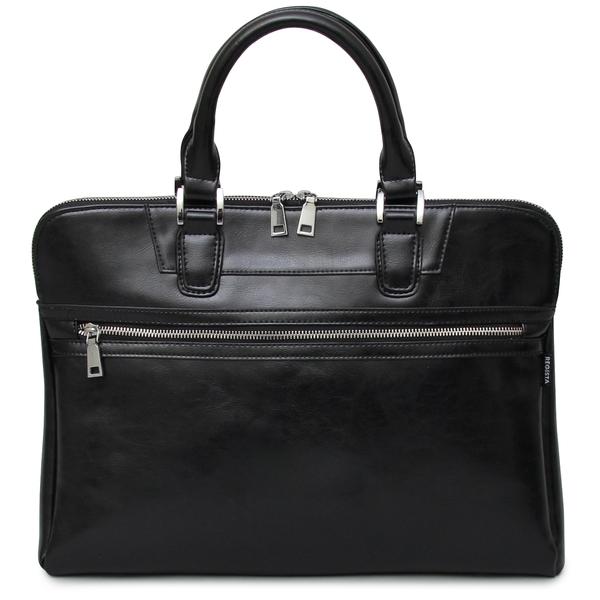 604-BK-F レザーバッグ ブリーフケース スプリットレザー ビジネスバッグ レザー 牛床革 通勤 通学 A4 収納 機能的 ポケット オフィス カジュアル シンプル 鞄 かばん カバン REGiSTA レジスタ
