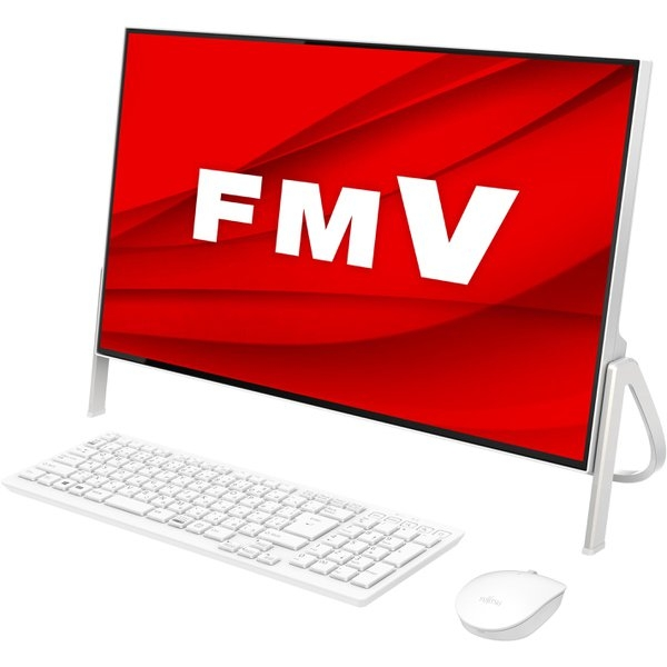 富士通 FMVF70D3W ホワイト FMV ESPRIMO FH70/D3 [デスクトップパソコン 23.8型ワイド液晶 SSD 512GB DVDスーパーマルチ]