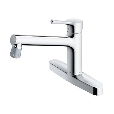 TOTO TKS05313J GGシリーズ [キッチン水栓金具/台付シングル混合水栓(エコシングル、吐水切替、共用)]