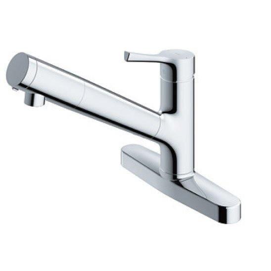 TOTO TKS05317J GGシリーズ [キッチン水栓金具/台付シングル混合水栓(エコシングル、浄水カートリッジ内蔵、吐水切替)]