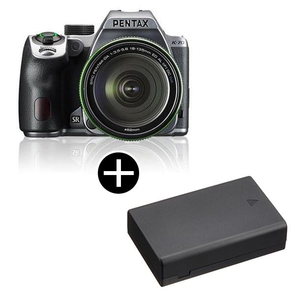 PENTAX K-70 18-135WRキット シルキーシルバー + バッテリー [デジタル一眼レフカメラ(2424万画素)]