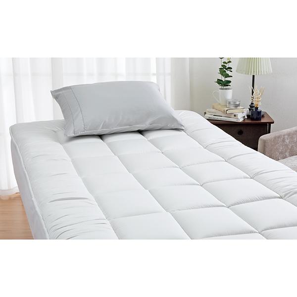 ロマンス小杉 3713-6035-9900 ベッド用羊毛敷きふとん セミダブル シャイニーグレー