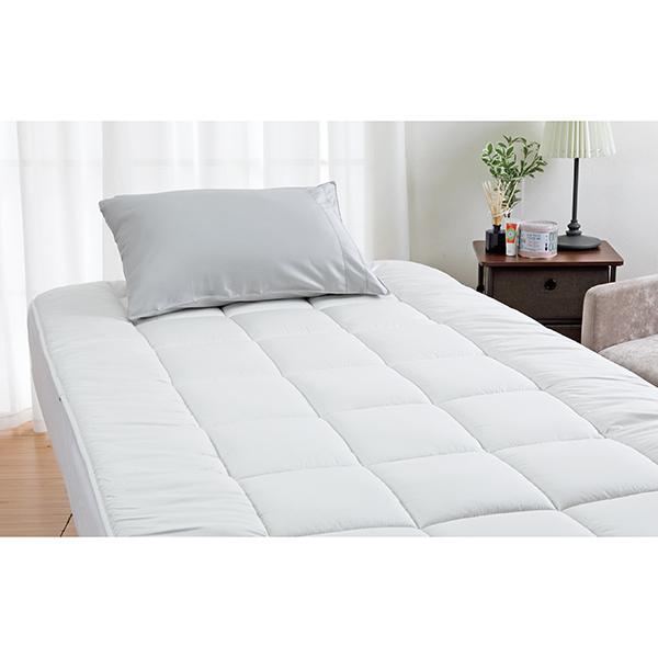 ロマンス小杉 3713-6040-9900 ベッド用羊毛敷きふとん シングル シャイニーグレー